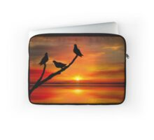 Birds at Sunset point-2 Laptop Sleeve