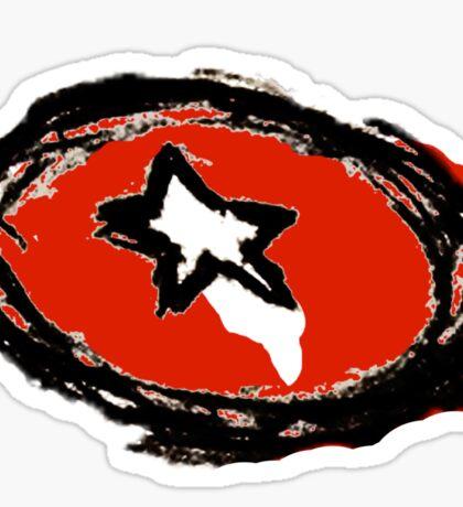 Minimalist Captain America Shield Sticker