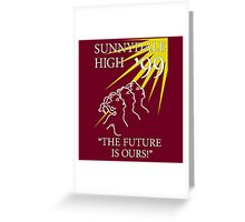 Sunnydale Yearbook 99 Greeting Card