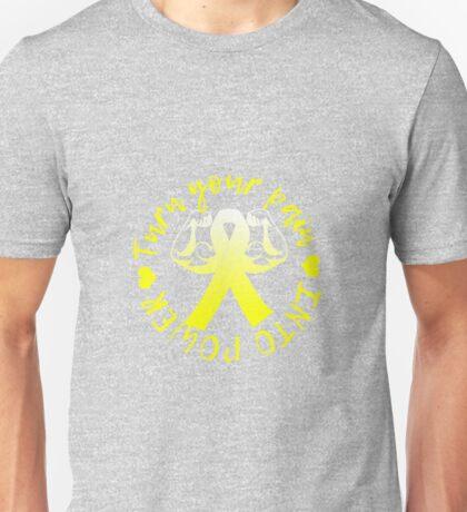 Pain Into Power - Yellow Unisex T-Shirt