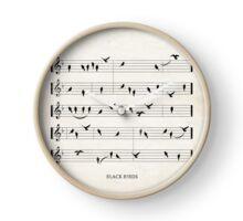 Black Birds Clock