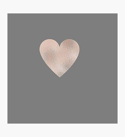 Rose Gold Hearts Photographic Print