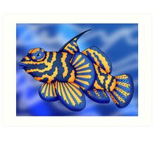 Mandarin Fish Art Print