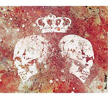 Blood Queendom - skulls with crown Photographic Print