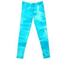 Cool Turquoise Summer Pool Leggings