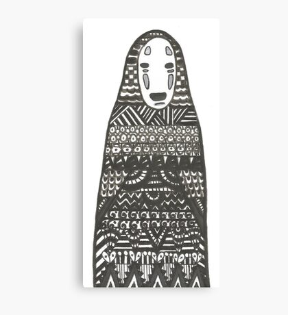 No Face - Spirited Away Canvas Print