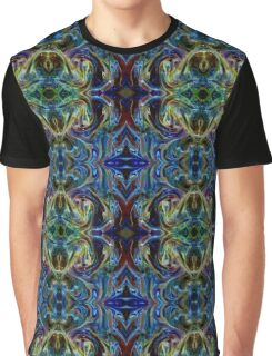 Royal Blue Psychedelic Elegance Graphic T-Shirt
