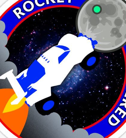 Rocket Powered Mission Patch Sticker
