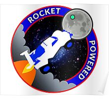 Rocket Powered Mission Patch Poster