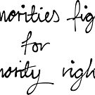 Minority rights by BluescreenQueen
