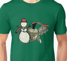 Snowman at the Woodpile Unisex T-Shirt