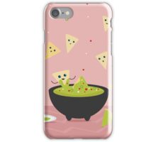 Spicy Guacamole and Chips Party iPhone Case/Skin