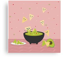 Spicy Guacamole and Chips Party Canvas Print