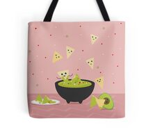 Spicy Guacamole and Chips Party Tote Bag