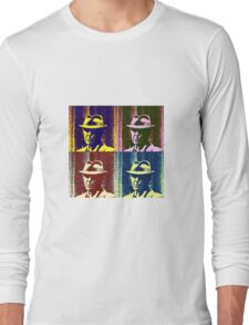 Leonard Cohen Portrait Pop Art Style Long Sleeve T-Shirt