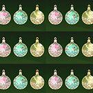 Christmas balls rainbow fairies by Kartoon