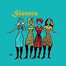 Four Sisters in Turquoise by Sarah Curtiss