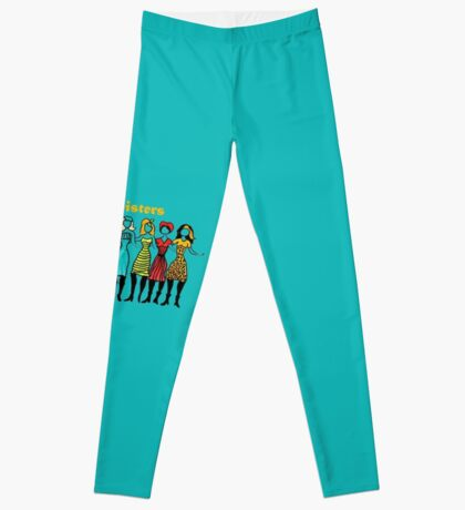 Four Sisters in Turquoise Leggings
