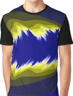Yellow and blue fractals Graphic T-Shirt