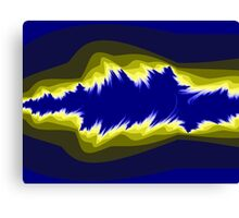 Yellow and blue fractals Canvas Print