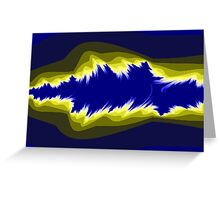 Yellow and blue fractals Greeting Card