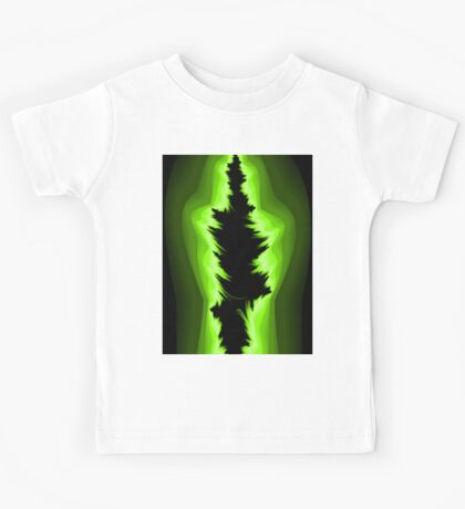 Green and black fractals Kids Tee