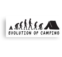 Camping Evolution Canvas Print