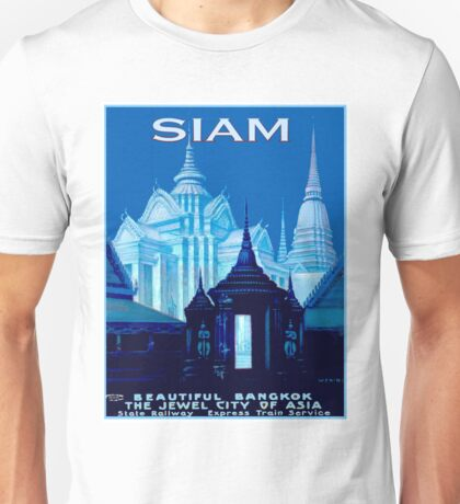 SIAM; Vintage Travel Advertising Print Unisex T-Shirt