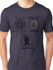 SuperWhoLock - Black Unisex T-Shirt