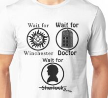 SuperWhoLock - Black Unisex T-Shirt