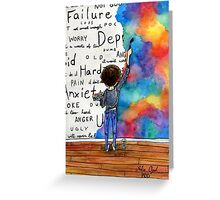Always Keep Fighting Watercolor Painting (2015) REVAMP Greeting Card