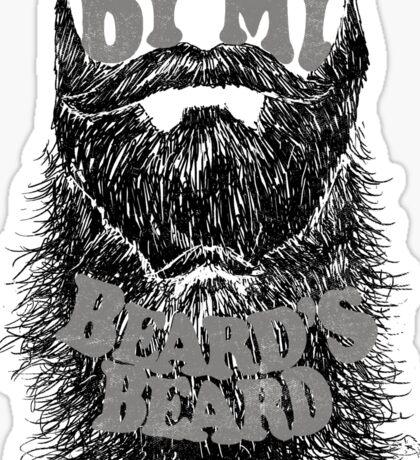 By My Beard's Beard Sticker