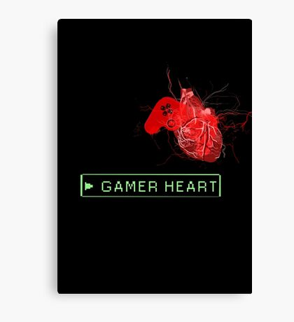 Gamer heart Canvas Print