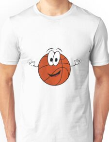 Happy cartoon basketball character Unisex T-Shirt