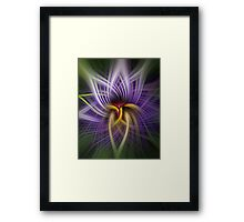Twirls and twists of purple Framed Print