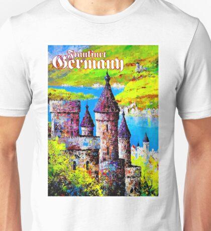 FRANKFURT GERMANY; Vintage Travel Advertising Print Unisex T-Shirt