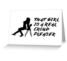 That Girl is a Real Crowd Pleaser - Black Beatles (Mannequin Challenge) Homage Greeting Card