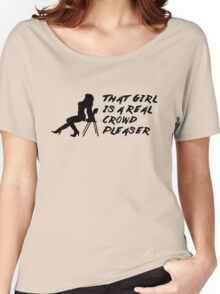 That Girl is a Real Crowd Pleaser - Black Beatles (Mannequin Challenge) Homage Women's Relaxed Fit T-Shirt