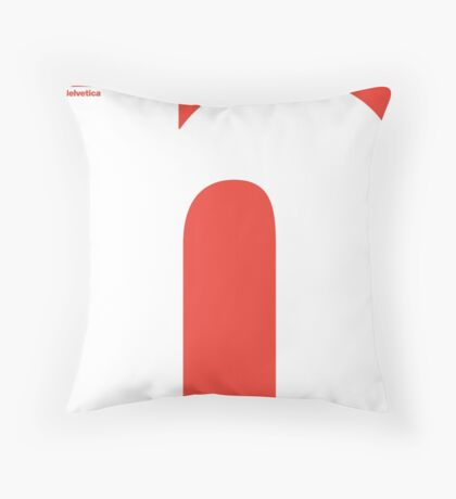 Helvetica - n Throw Pillow