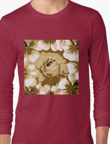 Antique White Rose Long Sleeve T-Shirt