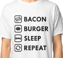 Bacon Burger Sleep Repeat Classic T-Shirt