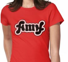 Amy ambigram Womens Fitted T-Shirt