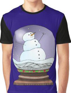 Snow Globe Night Graphic T-Shirt