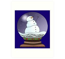 Snow Globe Night Art Print