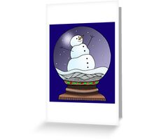 Snow Globe Night Greeting Card