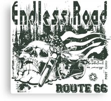 Endless Road - Motorcycle Sticker Canvas Print
