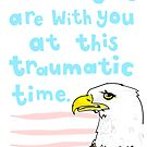 Condolence: Awkward Eagle by lauriepink