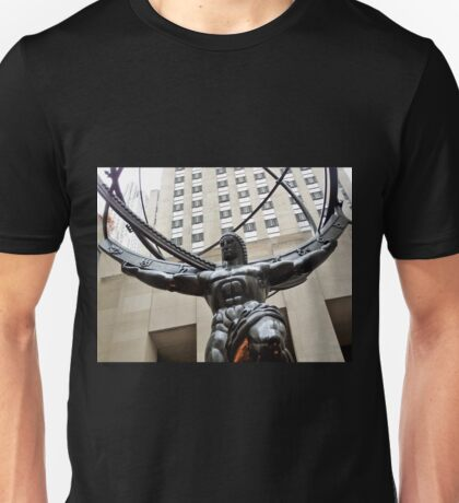 Statue Of Atlas, NYC Unisex T-Shirt