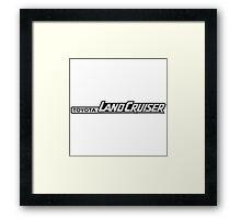 Toyota Landcruiser Logo Framed Print