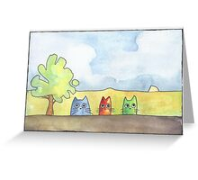 Cat's of a different color Greeting Card